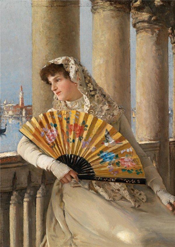 Conrad Kiesel, pictor german (1846-1921), un portretist desăvârşit care omagiază frumusețea feminină