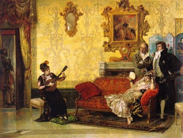 Vicente Palmaroli González, pictor spaniol (1834-1896) ~ The concert