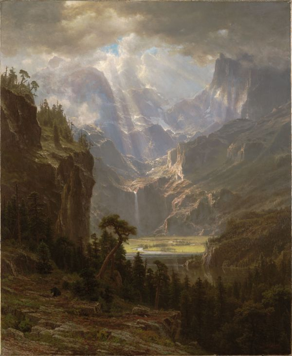 Albert Bierstadt, pictor germano - american (1830 -1902)~ Rocky Mountains Lander's Peak 1863